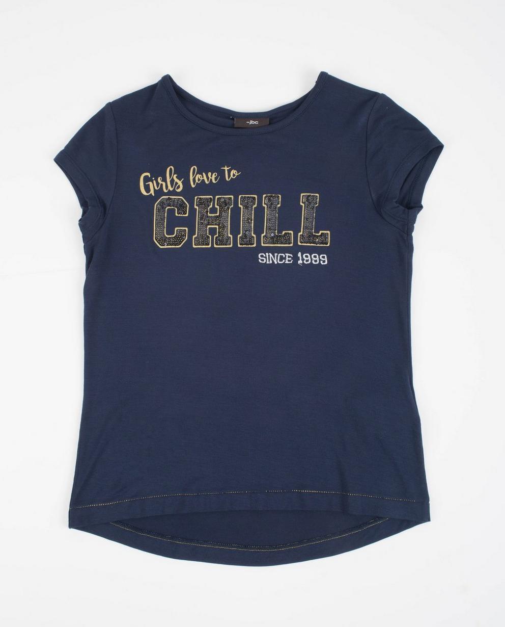 T-shirt met pailletten - in nachtblauw - JBC